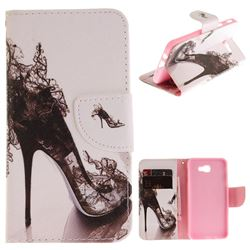High Heels PU Leather Wallet Case for Samsung Galaxy J5 Prime