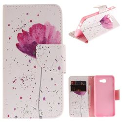 Purple Orchid PU Leather Wallet Case for Samsung Galaxy J5 Prime