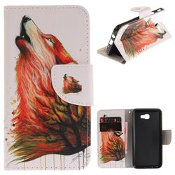Color Wolf PU Leather Wallet Case for Samsung Galaxy J5 Prime