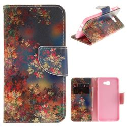 Colored Flowers PU Leather Wallet Case for Samsung Galaxy J5 Prime