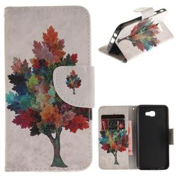 Colored Tree PU Leather Wallet Case for Samsung Galaxy J5 Prime