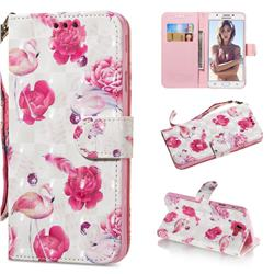 Flamingo 3D Painted Leather Wallet Phone Case for Samsung Galaxy J5 Prime