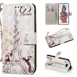 Tower Couple 3D Painted Leather Wallet Phone Case for Samsung Galaxy J5 Prime