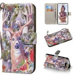 Elk Deer 3D Painted Leather Wallet Phone Case for Samsung Galaxy J5 Prime