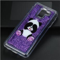 Naughty Panda Glassy Glitter Quicksand Dynamic Liquid Soft Phone Case for Samsung Galaxy J6 (2018) SM-J600F