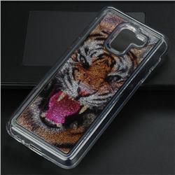 Tiger Glassy Glitter Quicksand Dynamic Liquid Soft Phone Case for Samsung Galaxy J6 (2018) SM-J600F