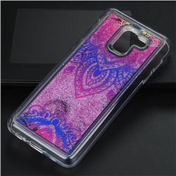 Blue and White Glassy Glitter Quicksand Dynamic Liquid Soft Phone Case for Samsung Galaxy J6 (2018) SM-J600F