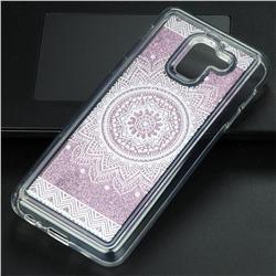 Mandala Glassy Glitter Quicksand Dynamic Liquid Soft Phone Case for Samsung Galaxy J6 (2018) SM-J600F