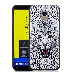 Snow Leopard 3D Embossed Relief Black Soft Back Cover for Samsung Galaxy J6 (2018) SM-J600F