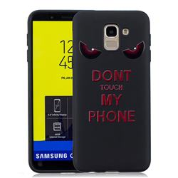 Red Eyes 3D Embossed Relief Black Soft Back Cover for Samsung Galaxy J6 (2018) SM-J600F