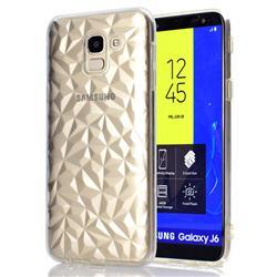 Diamond Pattern Shining Soft TPU Phone Back Cover for Samsung Galaxy J6 (2018) SM-J600F - Transparent