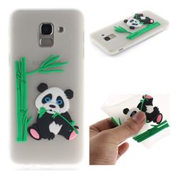 Panda Eating Bamboo Soft 3D Silicone Case for Samsung Galaxy J6 (2018) SM-J600F - Translucent