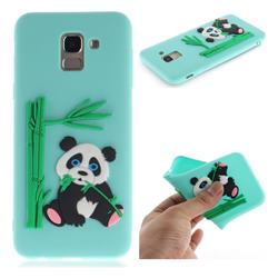 Panda Eating Bamboo Soft 3D Silicone Case for Samsung Galaxy J6 (2018) SM-J600F - Green