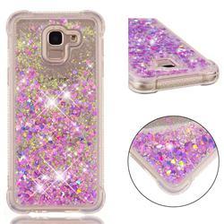 Dynamic Liquid Glitter Sand Quicksand Star TPU Case for Samsung Galaxy J6 (2018) SM-J600F - Rose