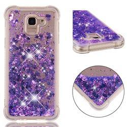 Dynamic Liquid Glitter Sand Quicksand Star TPU Case for Samsung Galaxy J6 (2018) SM-J600F - Purple