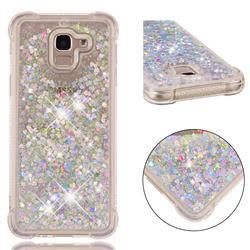 Dynamic Liquid Glitter Sand Quicksand Star TPU Case for Samsung Galaxy J6 (2018) SM-J600F - Silver