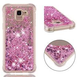 Dynamic Liquid Glitter Sand Quicksand Star TPU Case for Samsung Galaxy J6 (2018) SM-J600F - Diamond Rose