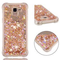 Dynamic Liquid Glitter Sand Quicksand Star TPU Case for Samsung Galaxy J6 (2018) SM-J600F - Diamond Gold