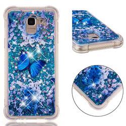 Flower Butterfly Dynamic Liquid Glitter Sand Quicksand Star TPU Case for Samsung Galaxy J6 (2018) SM-J600F