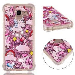 Angel Pony Dynamic Liquid Glitter Sand Quicksand Star TPU Case for Samsung Galaxy J6 (2018) SM-J600F