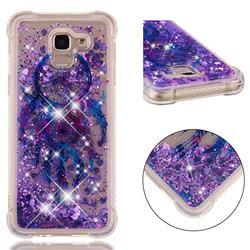 Retro Wind Chimes Dynamic Liquid Glitter Sand Quicksand Star TPU Case for Samsung Galaxy J6 (2018) SM-J600F