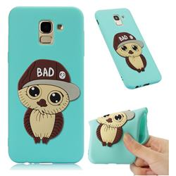 Bad Boy Owl Soft 3D Silicone Case for Samsung Galaxy J6 (2018) SM-J600F - Sky Blue