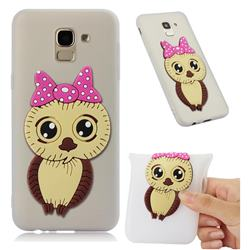 Bowknot Girl Owl Soft 3D Silicone Case for Samsung Galaxy J6 (2018) SM-J600F - Translucent White