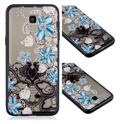 Lilac Lace Diamond Flower Soft TPU Back Cover for Samsung Galaxy J6 (2018) SM-J600F