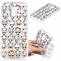 Mini Panda Clear Varnish Soft Phone Back Cover for Samsung Galaxy J6 (2018) SM-J600F