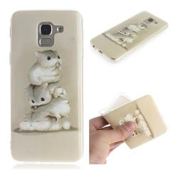 Three Squirrels IMD Soft TPU Cell Phone Back Cover for Samsung Galaxy J6 (2018) SM-J600F