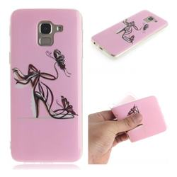 Butterfly High Heels IMD Soft TPU Cell Phone Back Cover for Samsung Galaxy J6 (2018) SM-J600F