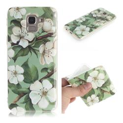Watercolor Flower IMD Soft TPU Cell Phone Back Cover for Samsung Galaxy J6 (2018) SM-J600F