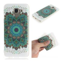 Peacock Mandala IMD Soft TPU Cell Phone Back Cover for Samsung Galaxy J6 (2018) SM-J600F