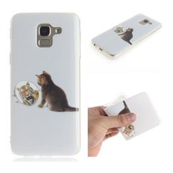 Cat and Tiger IMD Soft TPU Cell Phone Back Cover for Samsung Galaxy J6 (2018) SM-J600F