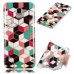 Three-dimensional Square Soft TPU Marble Pattern Phone Case for Samsung Galaxy J6 (2018) SM-J600F