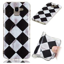 Black and White Matching Soft TPU Marble Pattern Phone Case for Samsung Galaxy J6 (2018) SM-J600F