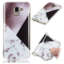 Black white Grey Soft TPU Marble Pattern Phone Case for Samsung Galaxy J6 (2018) SM-J600F