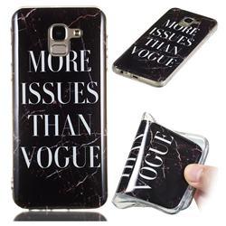 Stylish Black Soft TPU Marble Pattern Phone Case for Samsung Galaxy J6 (2018) SM-J600F