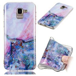 Purple Amber Soft TPU Marble Pattern Phone Case for Samsung Galaxy J6 (2018) SM-J600F
