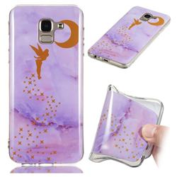 Elf Purple Soft TPU Marble Pattern Phone Case for Samsung Galaxy J6 (2018) SM-J600F