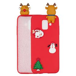 Red Elk Christmas Xmax Soft 3D Silicone Case for Samsung Galaxy J6 (2018) SM-J600F