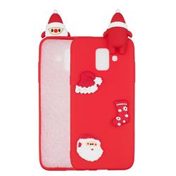 Red Santa Claus Christmas Xmax Soft 3D Silicone Case for Samsung Galaxy J6 (2018) SM-J600F
