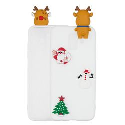 White Elk Christmas Xmax Soft 3D Silicone Case for Samsung Galaxy J6 (2018) SM-J600F