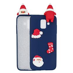 Navy Santa Claus Christmas Xmax Soft 3D Silicone Case for Samsung Galaxy J6 (2018) SM-J600F
