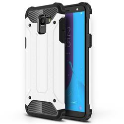 King Kong Armor Premium Shockproof Dual Layer Rugged Hard Cover for Samsung Galaxy J6 (2018) SM-J600F - White