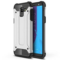 King Kong Armor Premium Shockproof Dual Layer Rugged Hard Cover for Samsung Galaxy J6 (2018) SM-J600F - Technology Silver