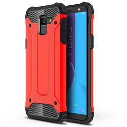 King Kong Armor Premium Shockproof Dual Layer Rugged Hard Cover for Samsung Galaxy J6 (2018) SM-J600F - Big Red