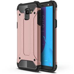 King Kong Armor Premium Shockproof Dual Layer Rugged Hard Cover for Samsung Galaxy J6 (2018) SM-J600F - Rose Gold