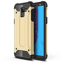 King Kong Armor Premium Shockproof Dual Layer Rugged Hard Cover for Samsung Galaxy J6 (2018) SM-J600F - Champagne Gold