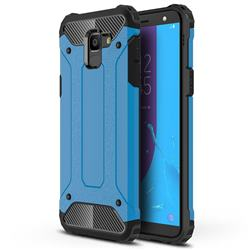 King Kong Armor Premium Shockproof Dual Layer Rugged Hard Cover for Samsung Galaxy J6 (2018) SM-J600F - Sky Blue